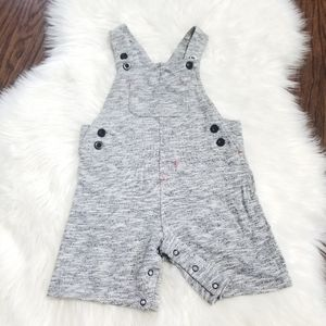 2/15$🔥 Comfy Cotton Boy Overall Shorts with Snaps